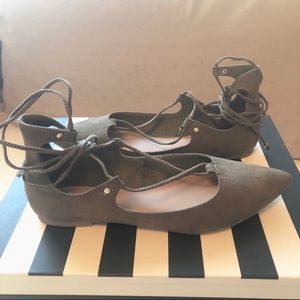 Old Navy Olive Tie-up Flats